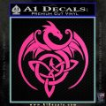 Celtic Dragon Knot Decal Sticker Hot Pink Vinyl 120x120