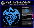 Celtic Dragon Knot Decal Sticker Light Blue Vinyl 120x97