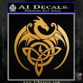 Celtic Dragon Knot Decal Sticker Metallic Gold Vinyl 120x120