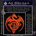 Celtic Dragon Knot Decal Sticker Orange Vinyl Emblem 120x120