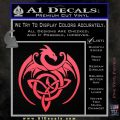 Celtic Dragon Knot Decal Sticker Pink Vinyl Emblem 120x120