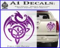 Celtic Dragon Knot Decal Sticker Purple Vinyl 120x97