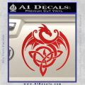 Celtic Dragon Knot Decal Sticker Red Vinyl 120x120
