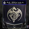 Celtic Dragon Knot Decal Sticker Silver Vinyl 120x120