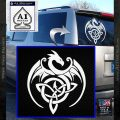 Celtic Dragon Knot Decal Sticker White Vinyl Emblem 120x120