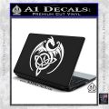 Celtic Dragon Knot Decal Sticker White Vinyl Laptop 120x120