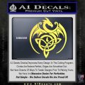 Celtic Dragon Knot Decal Sticker Yellow Vinyl 120x120