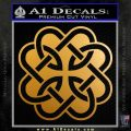 Celtic Fatherhood Knot Decal Sticker Metallic Gold Vinyl 120x120