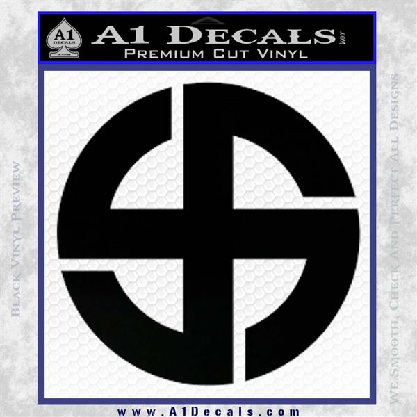 Celtic Sun Cross Decal Sticker CR1 Black Vinyl Logo Emblem