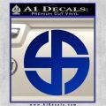 Celtic Sun Cross Decal Sticker CR1 Blue Vinyl 120x120