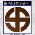 Celtic Sun Cross Decal Sticker CR1 Brown Vinyl 120x120