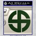 Celtic Sun Cross Decal Sticker CR1 Dark Green Vinyl 120x120