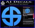 Celtic Sun Cross Decal Sticker CR1 Light Blue Vinyl 120x97