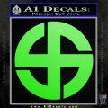 Celtic Sun Cross Decal Sticker CR1 Lime Green Vinyl 120x120