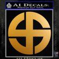 Celtic Sun Cross Decal Sticker CR1 Metallic Gold Vinyl 120x120