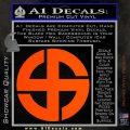 Celtic Sun Cross Decal Sticker CR1 Orange Vinyl Emblem 120x120