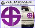 Celtic Sun Cross Decal Sticker CR1 Purple Vinyl 120x97