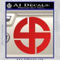 Celtic Sun Cross Decal Sticker CR1 Red Vinyl 120x120