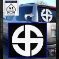 Celtic Sun Cross Decal Sticker CR1 White Vinyl Emblem 120x120