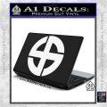 Celtic Sun Cross Decal Sticker CR1 White Vinyl Laptop 120x120