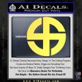 Celtic Sun Cross Decal Sticker CR1 Yellow Vinyl 120x120