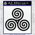 Celtic Triskelion Rune Triple Swirl Decal Sticker Black Vinyl Logo Emblem 120x120