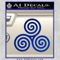 Celtic Triskelion Rune Triple Swirl Decal Sticker Blue Vinyl 120x120