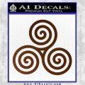 Celtic Triskelion Rune Triple Swirl Decal Sticker Brown Vinyl 120x120