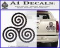 Celtic Triskelion Rune Triple Swirl Decal Sticker Carbon Fiber Black 120x97