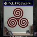 Celtic Triskelion Rune Triple Swirl Decal Sticker Dark Red Vinyl 120x120