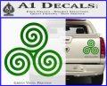 Celtic Triskelion Rune Triple Swirl Decal Sticker Green Vinyl 120x97