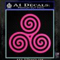 Celtic Triskelion Rune Triple Swirl Decal Sticker Hot Pink Vinyl 120x120