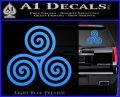 Celtic Triskelion Rune Triple Swirl Decal Sticker Light Blue Vinyl 120x97