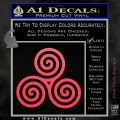 Celtic Triskelion Rune Triple Swirl Decal Sticker Pink Vinyl Emblem 120x120