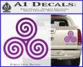 Celtic Triskelion Rune Triple Swirl Decal Sticker Purple Vinyl 120x97