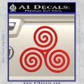 Celtic Triskelion Rune Triple Swirl Decal Sticker Red Vinyl 120x120