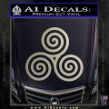 Celtic Triskelion Rune Triple Swirl Decal Sticker Silver Vinyl 120x120