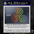 Celtic Triskelion Rune Triple Swirl Decal Sticker Sparkle Glitter Vinyl Sparkle Glitter 120x120