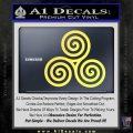 Celtic Triskelion Rune Triple Swirl Decal Sticker Yellow Vinyl 120x120