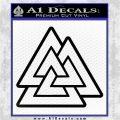 Celtic Warrior Knot Rune Decal Sticker Black Vinyl Logo Emblem 120x120