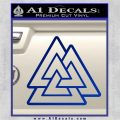 Celtic Warrior Knot Rune Decal Sticker Blue Vinyl 120x120