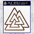 Celtic Warrior Knot Rune Decal Sticker Brown Vinyl 120x120