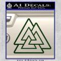 Celtic Warrior Knot Rune Decal Sticker Dark Green Vinyl 120x120