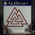 Celtic Warrior Knot Rune Decal Sticker Dark Red Vinyl 120x120