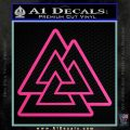 Celtic Warrior Knot Rune Decal Sticker Hot Pink Vinyl 120x120