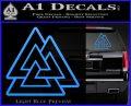 Celtic Warrior Knot Rune Decal Sticker Light Blue Vinyl 120x97