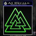 Celtic Warrior Knot Rune Decal Sticker Lime Green Vinyl 120x120