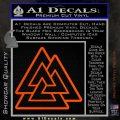 Celtic Warrior Knot Rune Decal Sticker Orange Vinyl Emblem 120x120
