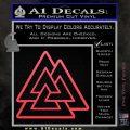 Celtic Warrior Knot Rune Decal Sticker Pink Vinyl Emblem 120x120