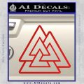 Celtic Warrior Knot Rune Decal Sticker Red Vinyl 120x120